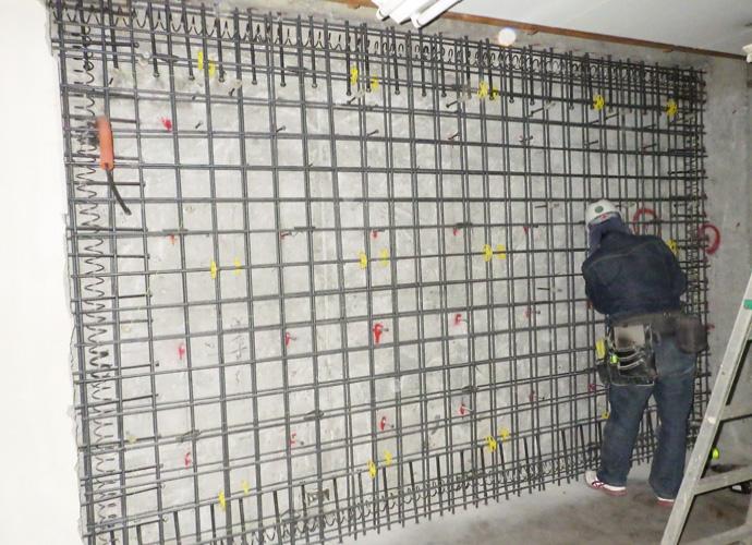 耐震壁増打ち補強